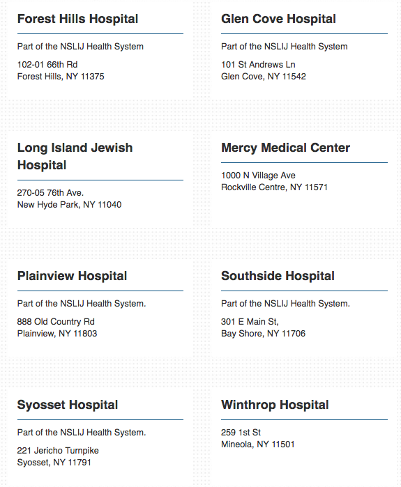 ER listings where dr sayeed is available